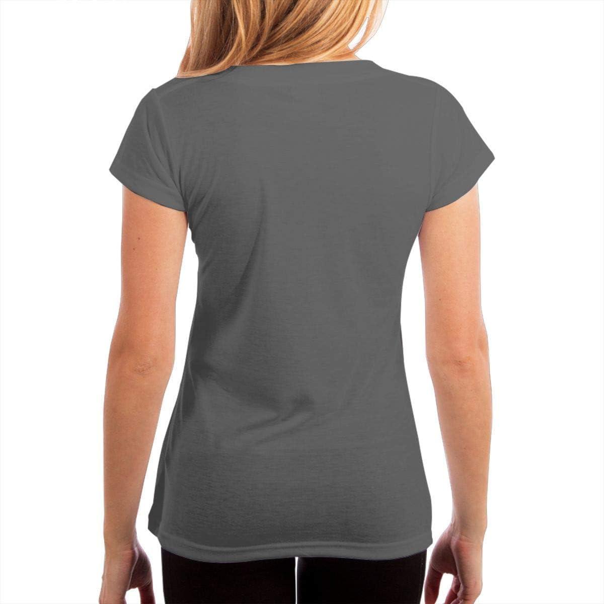 YUNJIYIFANG American Veterans Amvets Women V Neck Short Sleeve T-Shirt Basic Casual Cotton Blouse Shirts
