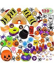 JOYIN 120 stuks Halloween nieuwigheden speelgoed assortiment voor Halloween Party Pag Fillers, truc behandelen klaslokaal beloningen, Halloween Goodie Bag Fillers, Halloween GiveawaysPrijzen