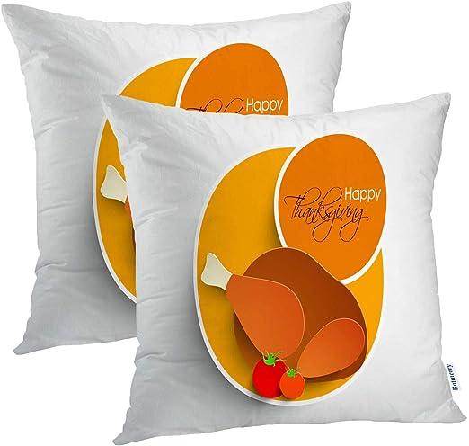 Fundas de almohadas indias 18x18 pulgadas, Feliz Día de ...