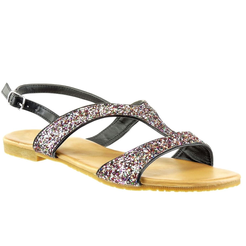 12c235c4a55 ... Angkorly - Zapatillas Moda Sandalias Correa Correa de Tobillo Mujer  Brillante Brillantes. Delicado Sandalias Fiesta Petit Bela M1290 Mostaza -  Color ...