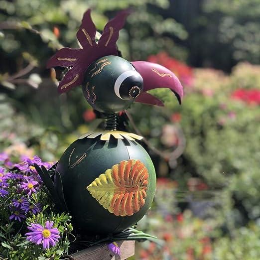 Ornamento del Jardín Metal Rústico Estilo Vintage Escultura Animal Peculiar Animales Al Aire Libre Amantes Regalo Piedra Decoración Woodpecker: 33cm (13.2in) High: Amazon.es: Hogar
