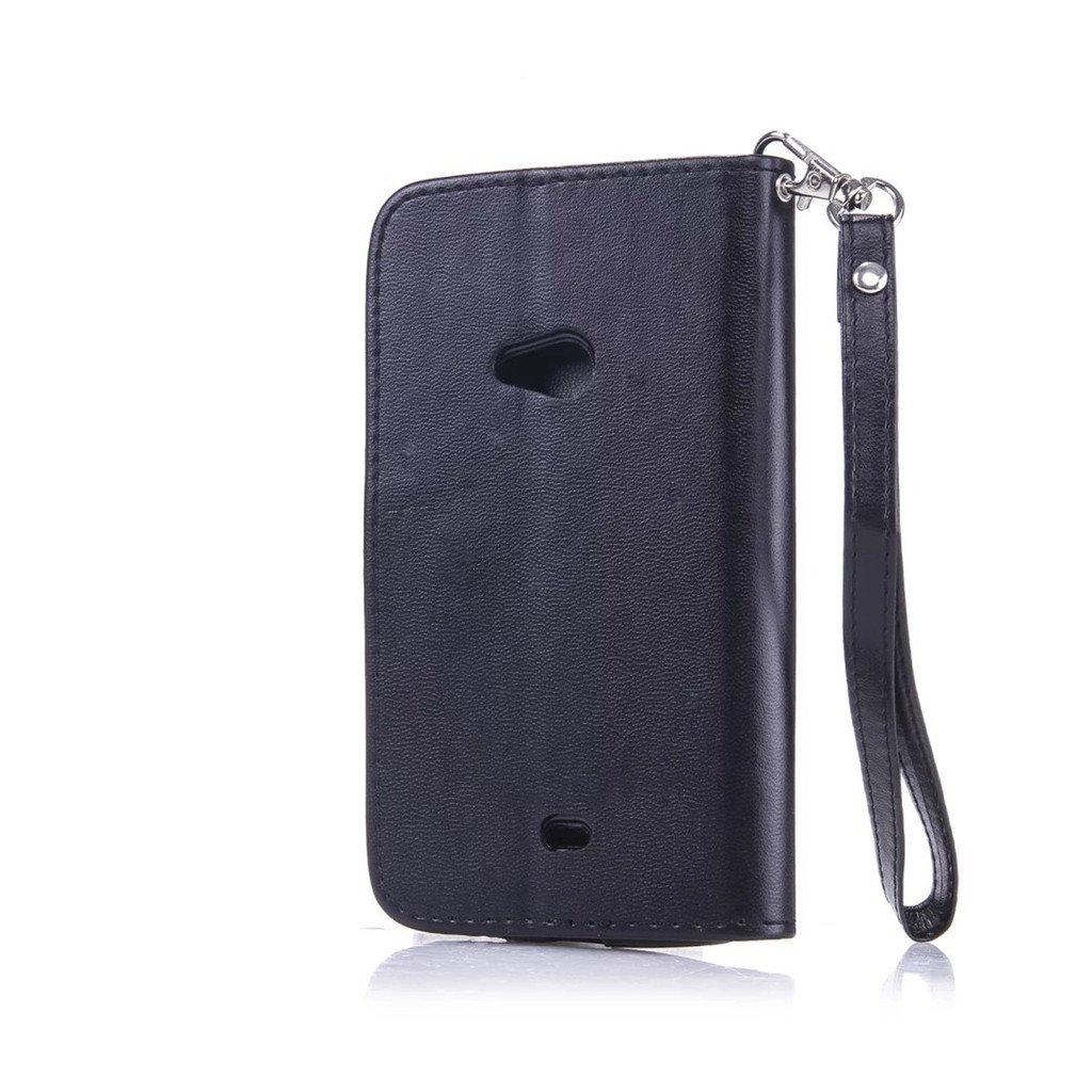 HUANGTAOLI Custodie Case in Pelle Protettiva Flip Cover per Nokia Lumia 625