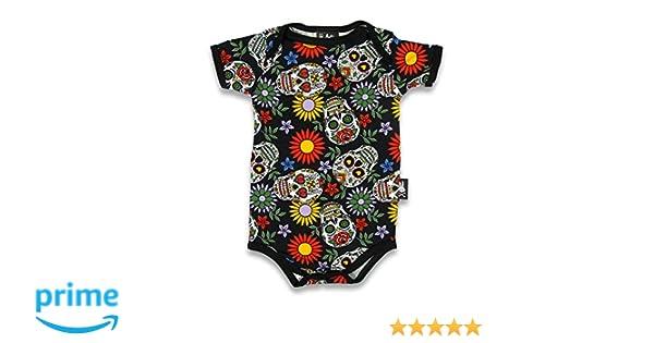 SIX Bunnies - Camiseta de calaveras de azúcar. Talla:0-3 meses