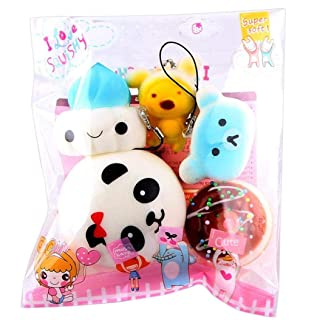 Mambain_Toy Squishy Kawaii Squishies Slow Rising 10pcs Pezzi Medium Mini Bread Toys Key Lento Giocattolo di Decompressione Antistress Giocattoli Toy per Adulti E Bambini,Mambain