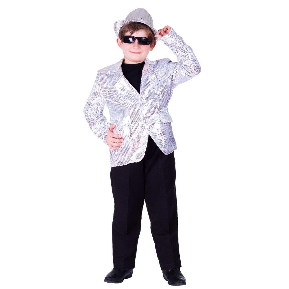 Kids Silver Sequin Jacket - Size Medium