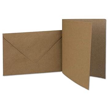 sehr formstabil Recycling Einzelkarten DIN A6 Ideal f/ür Gru/ßkarten und Einladungen PREMIUM QUALIT/ÄT Qualit/ätsmarke: NEUSER UmWelt f/ür Drucker geeignet 10,5 x 14,8 cm 100 St/ück Sandbraun