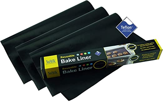 3x Reusable Non-Stick Cooking Liner Cook Without Fats /& Oil Oven Microwave Grill