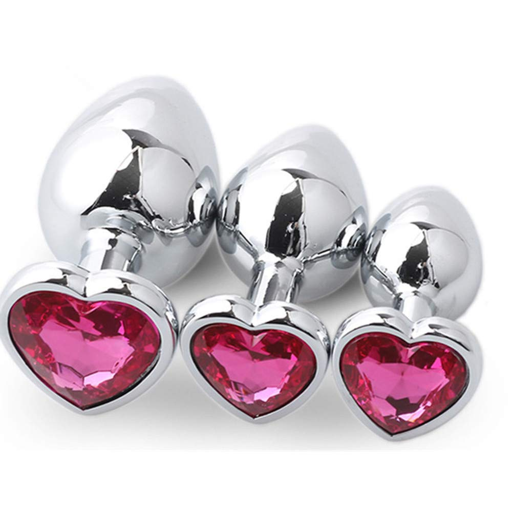 3PCS Metal Training Toy Heart Shape for Him or Her Rose