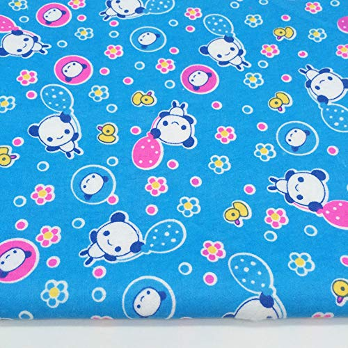 - ZAIONE 100% Cotton Brushed Flannel Fabric Flannelette Cartoon Printed Quilting Sewing Patchwork DIY Craft Applique by The Yard Width 43