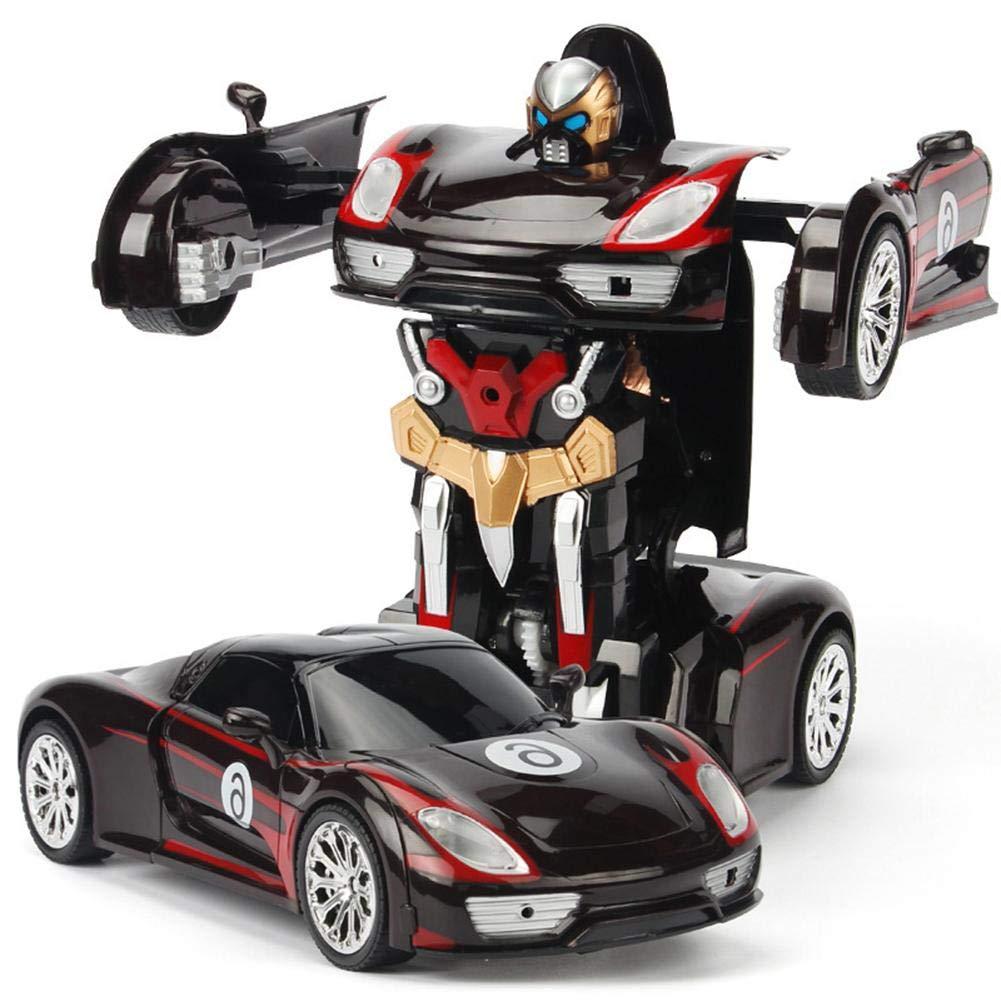 Ferngesteuertes Auto für Jungen und Mädchen im Alter von 3-16 Jahren Ein-Knopf-Deformation 360 ° drehbare RC-Roboter mit LED-Licht Intelligentes Fahrzeug Easy-topbuy