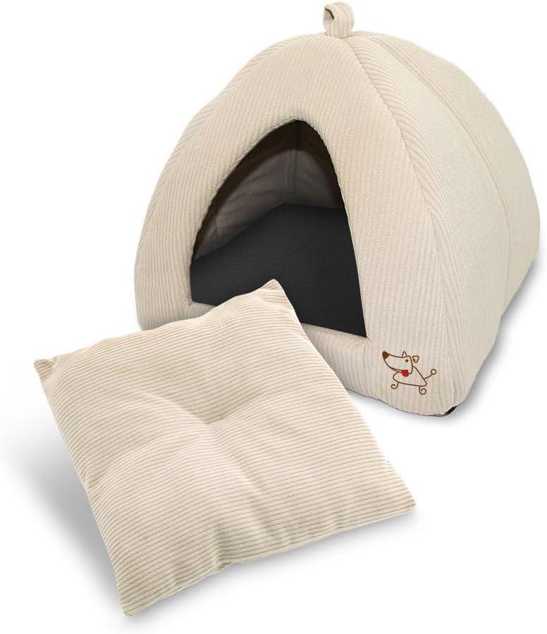 """Best Pet Supplies, Inc. Best Pet SuppliesPet Tent-Soft Bed for Dog & Cat, Inc. - Tan, 19"""" x H: 19"""" : Pet Supplies"""