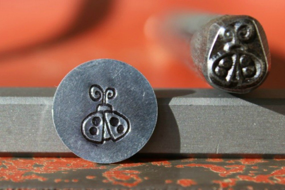 Supply Guy 7mm Ladybug Metal Punch Design Stamp K-15