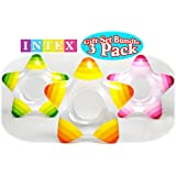 Intex 59243EP Star Rings, 3-Pack, 29 X 28-Inch, Assorted Colors