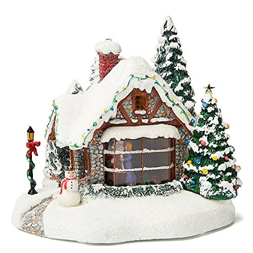 (Factory Direct Craft Decorated Resin and Plastic Christmas Cottage for Holiday Decor)