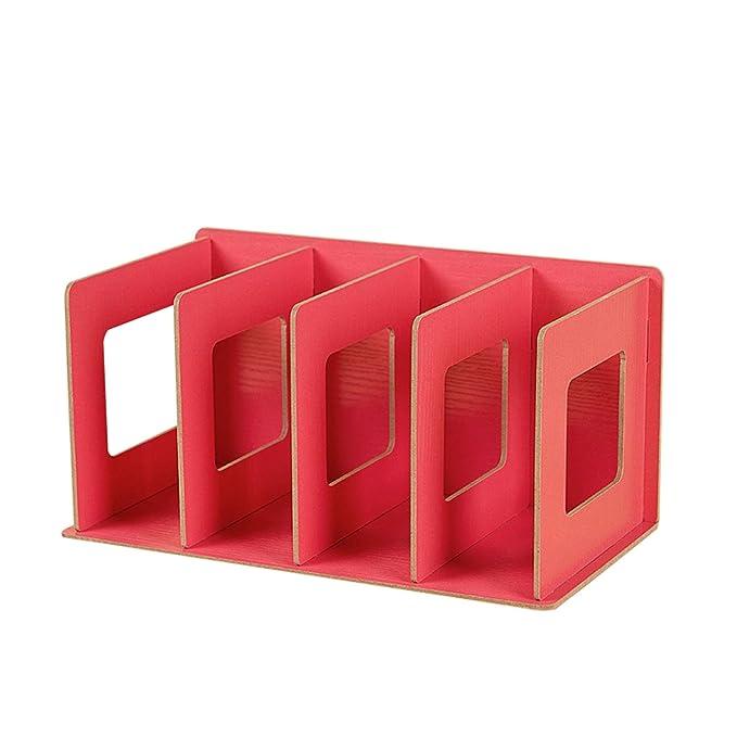 Vert Etagere De Rangement Table Multi Couches Module De Classement Diy En Bois Pour Bureau Salle Detude Classeur Papier A4 Dossier Cd Magazine Livre 29 15 15cm