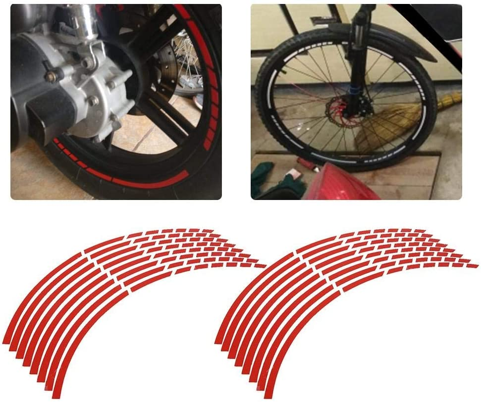 Etiqueta de la llanta de la llanta de la rueda de la motocicleta 16pcs etiqueta adhesiva de la etiqueta de la rueda de la llanta de la motocicleta Accesorio de la decoraci/ón de la etiqueta naranja