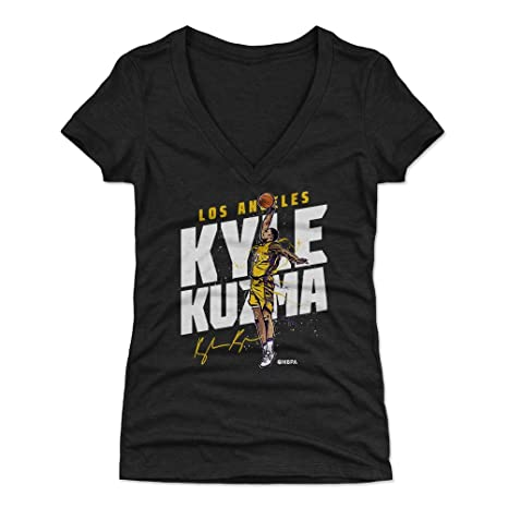 c5b306dc269f 500 LEVEL Kyle Kuzma Women s V-Neck Shirt Small Tri Black - Los Angeles  Basketball