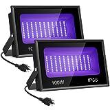 Onforu 2 Pack 100W UV LED Black Light, UV Flood