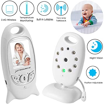 00bc37ea2828 Video Baby Monitor Wireless Camera+2 Way Talk Back Audio+Night Vision+ Temperature