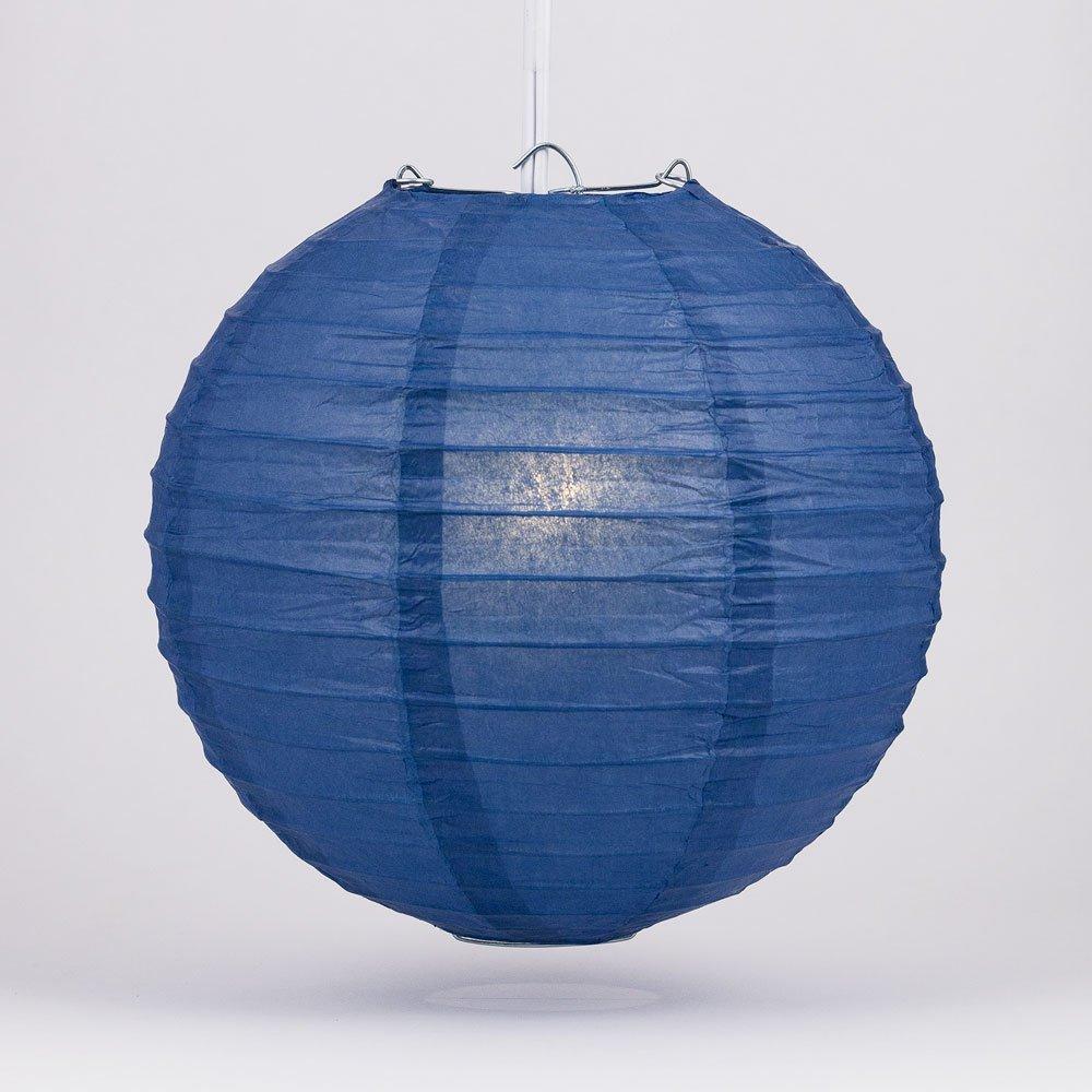 球体ペーパーランタン うね織り模様 ぶらさげるのに(電球は別売り) 20 Inch ブルー 20EVP-NBL 1 B01GQU4UUS 20 Inch|ネイビーブルー ネイビーブルー 20 Inch