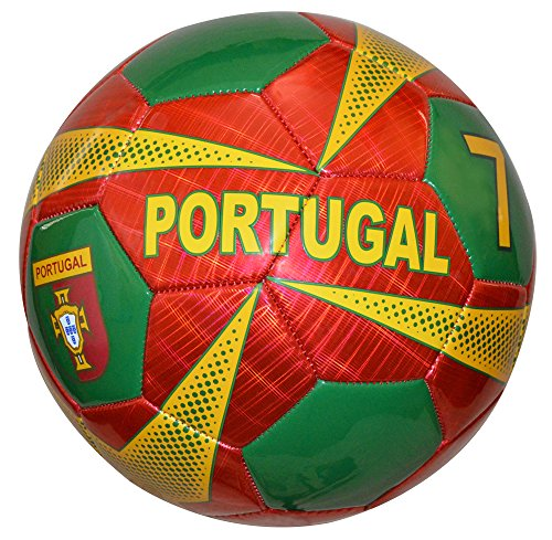 (Vizari Portugal Soccer Ball, Burgundy, Size)