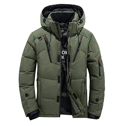 Dreamyth Mens Boys Long Sleeve Casual Warm Hooded Winter Zipper Coat Outwear Jacket Top Blouse (