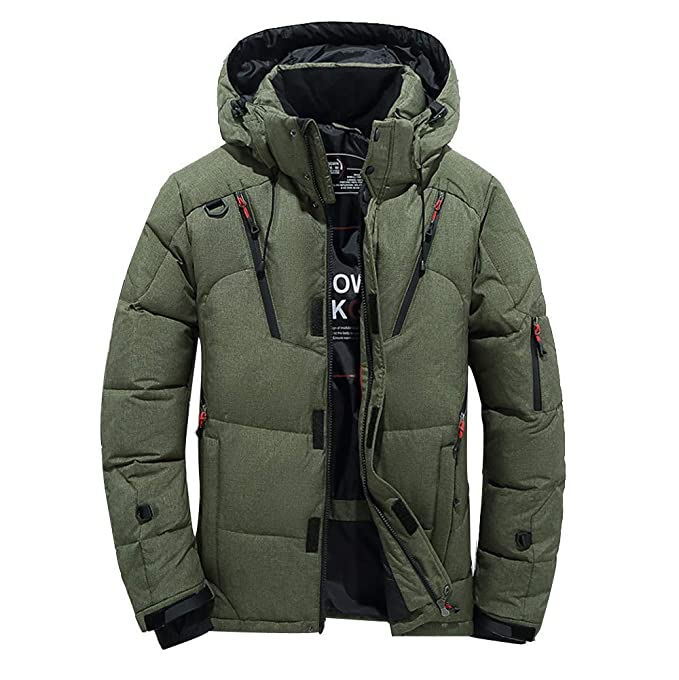 Amazon.com: Gocheaper Hooded Coat,Fashion Mens Casual Warm Hooded Jacket Boys Winter Zipper Thick Coat Outwear: Clothing