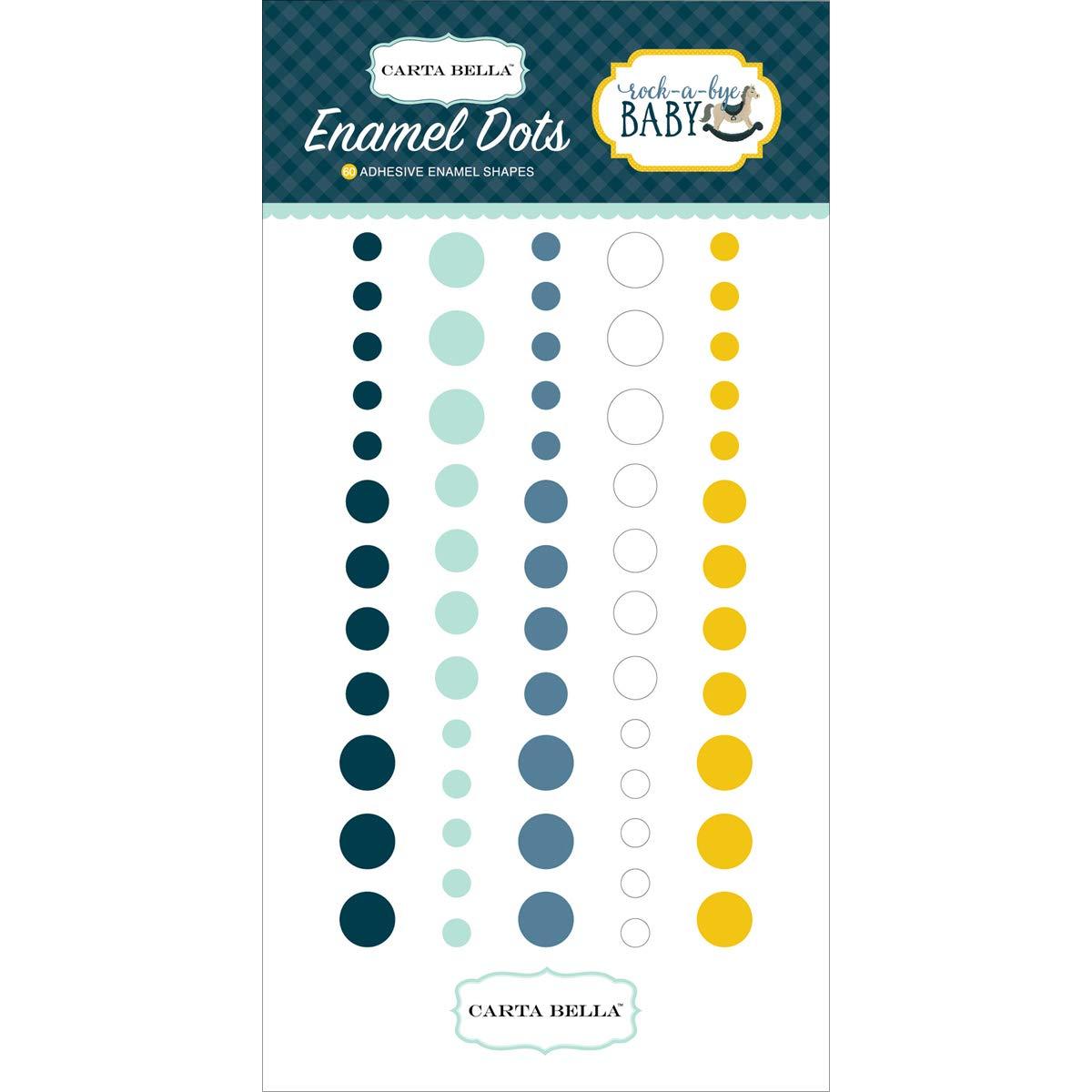 Carta Bella Paper Company Rock-a-Bye Boy Enamel Dots