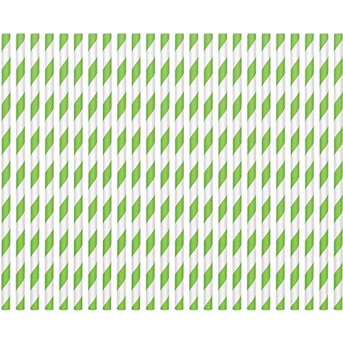 Kiwi Paper Straws (24ct)