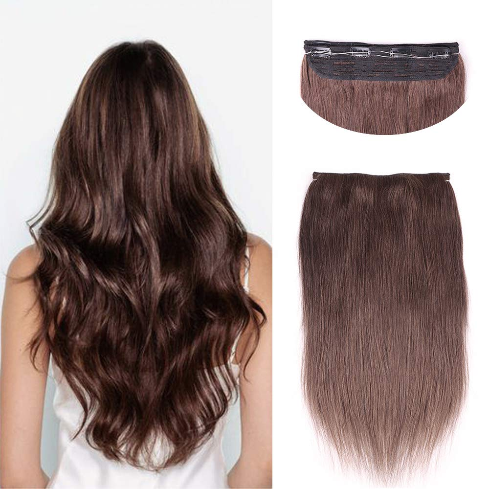 Dixtefo Halo Hair Extensions Invisible SEAL limited product Human Exte San Diego Mall Wire