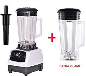 2200W BPA FREE 3HP 2L G5200 high power commercial home professional smoothies power blender food mixer juicer fruit processor,WHITE EXTRA 2L JUG