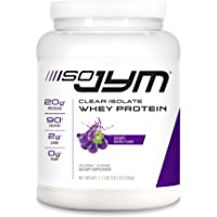 JYM Supplement Science Iso Jym, 90 Calories, 100% Whey Protein Isolate, Zero Fat, Zero Sugars, Mixes Clear, for Women…
