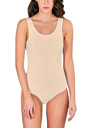 VEDATS Damen Modal Body Träger Top Unterhemd Achselhemd Bodysuit   Amazon.de  Bekleidung d3ba77a3e2