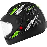 Pro Tork Capacete Super Sport Moto Fosco 56 Preto/Verde