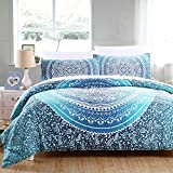 Sleepwish 7PCS Bedding Set Bed in A Bag Crystal Quilt Sheet and Pillowcases Indian Bohemia Printed Bedlinen Comforter Set Queen Size