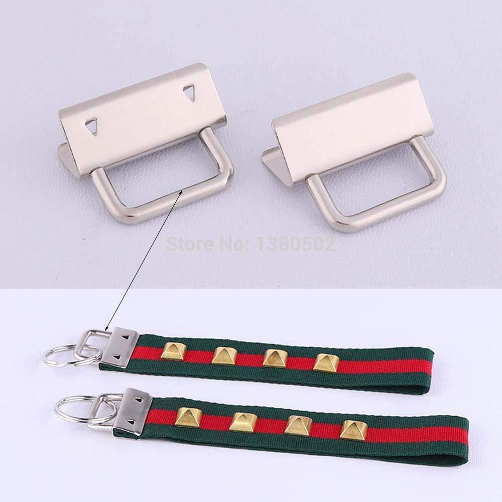 Fabric Hand Craft. WedFeir 30PCS Key Fob Hardware,Sliver Key Chain Fob Wristlet Hardware with Key Ring for Lanyard 1 Inch