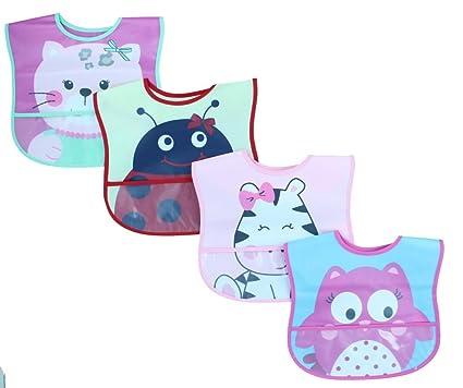 Amazon Com Lovespun Baby Bibs 4 Pack Girls Waterproof Burp Cloth