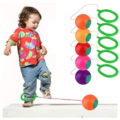 Skip It Ankle Toy Retro Skipit Toy Hopper Ball for All Ages - Best Swing Ball Game for Boys Girls and Kids,Fun Excercise, Active and Smile. Play Indoor and Outdoor: Sports & Outdoors