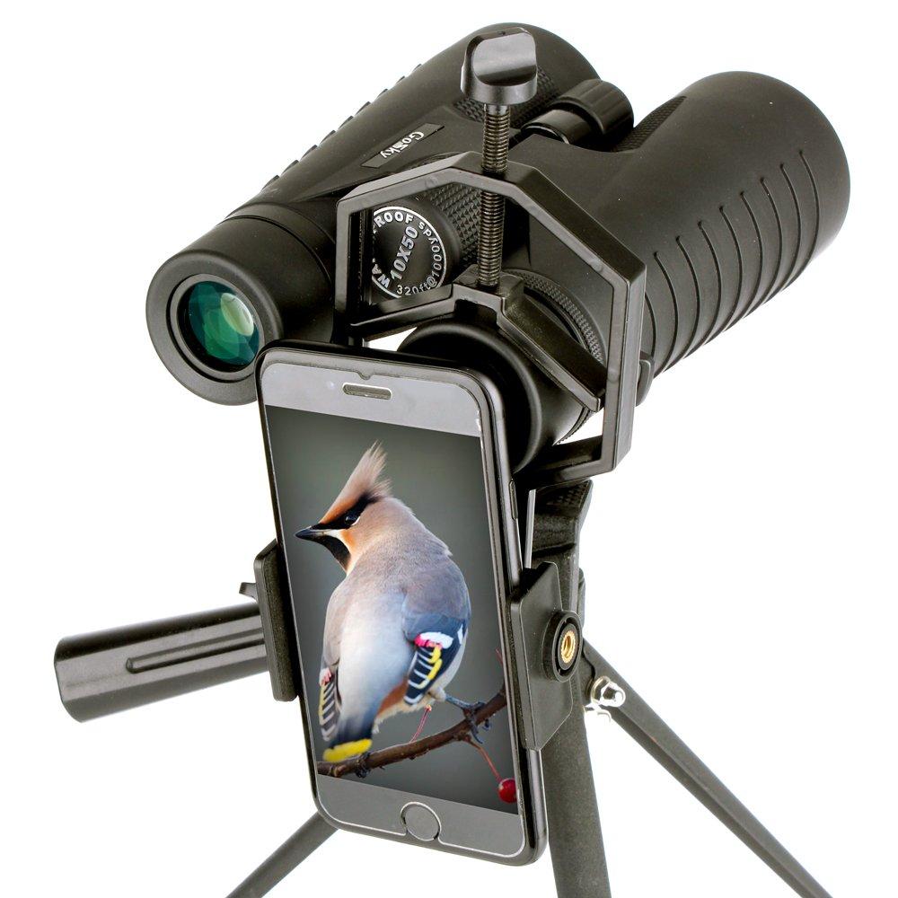 Landove Smartphone Adapter Mount for Spotting Scope Telescope Microscope Binocular Monocular - Adapter for Eyepiece Diameter 32mm to 62mm - for Phone Sony Samsung Moto Note Etc(Big Type) by Landove (Image #5)