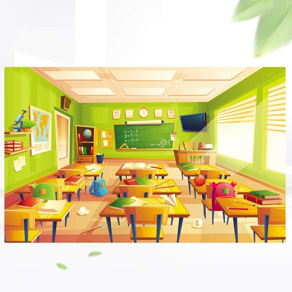 Uonlytech Photographic Backdrop Graduation 3D Classroom Printing Photo Backdrop for Photo Studio Decoration 90x150cm