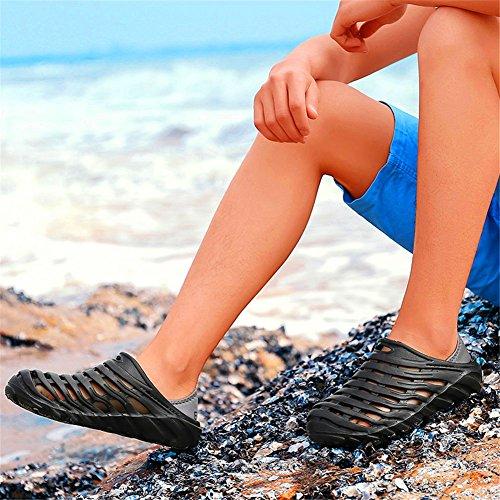 Infradito Da Uomo Sandali Esterni Traspiranti Scarpe Da Spiaggia Estate Buco Scarpe Da Acqua Per Uomo Nero