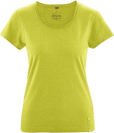 HempAge - Camiseta de cáñamo y algodón orgánico para mujer manzana ...