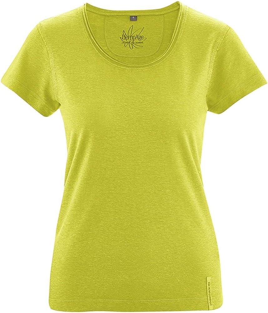 HEMPAGE Breeze - Camiseta de Manga Corta para Mujer (algodón ...