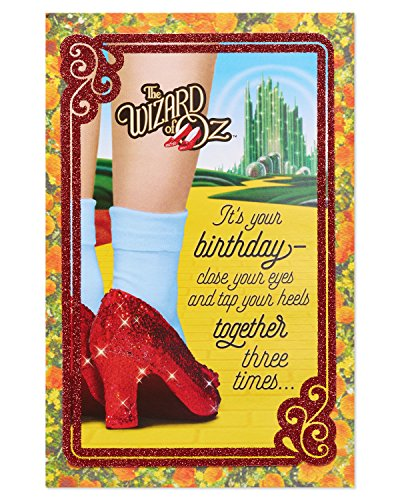 American Greetings Funny The Wizard of Oz Birthday Card with Glitter