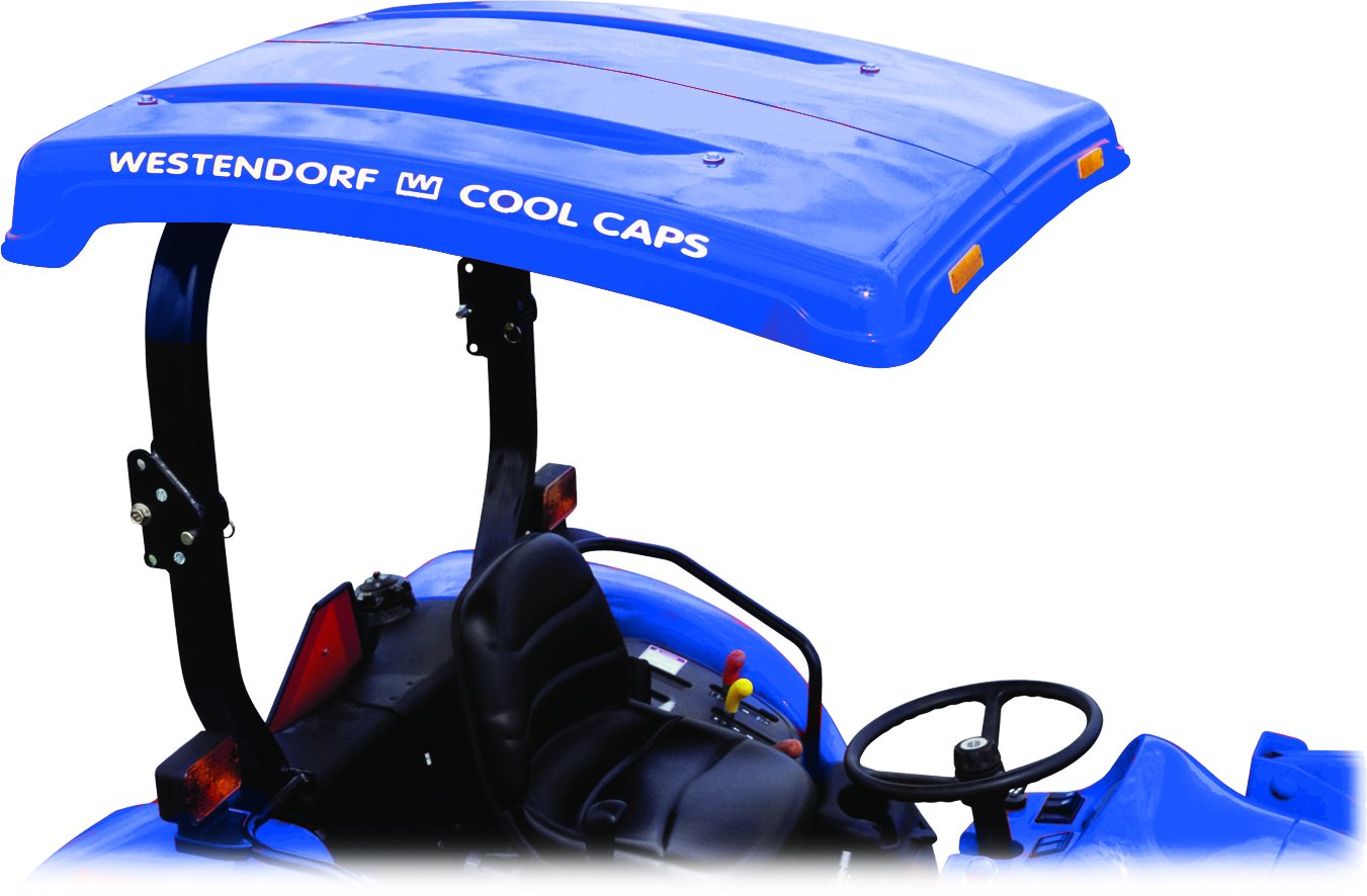 Westendorf Dura-poly Canopy w/ Low Profile Brackets  sc 1 st  Amazon.com & Amazon.com: Tuff Top Tractor Canopy For ROPS 48