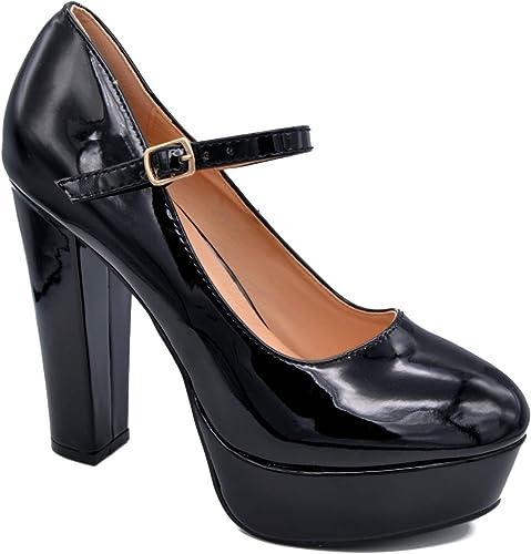 Platform Closed Toe High Heels Women