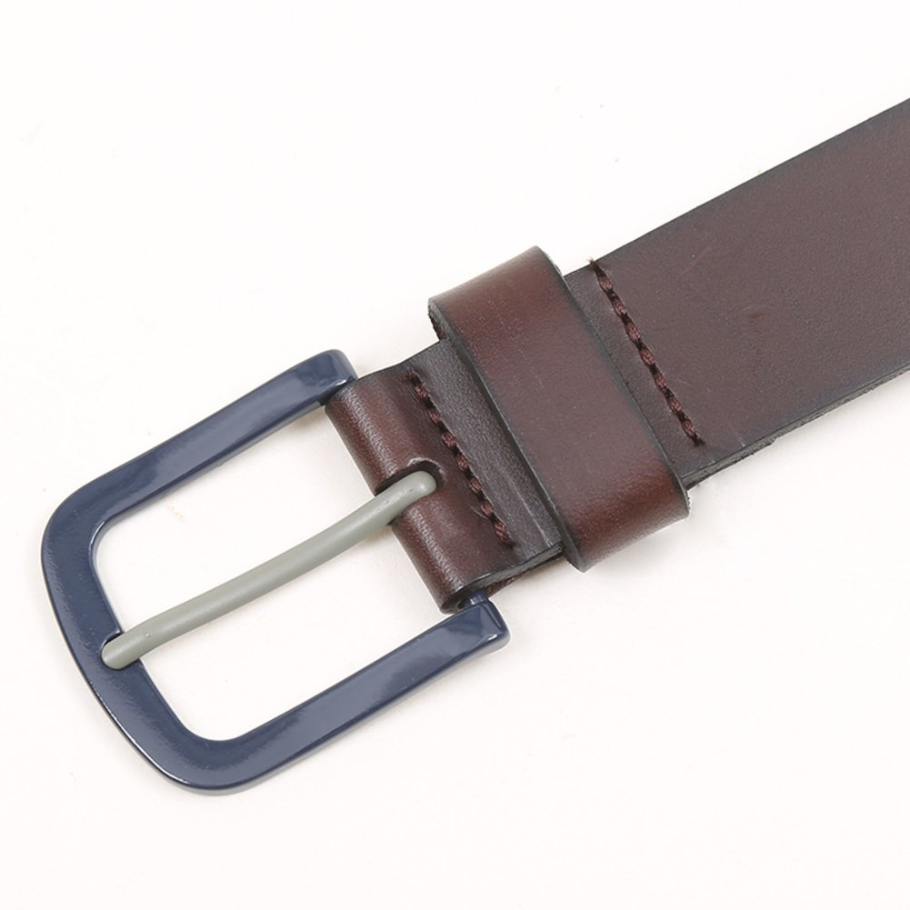 Men's Leather Ratchet Dress Belt With Automatic Buckle-A 115cm(45inch) by BUZHIDAO (Image #2)