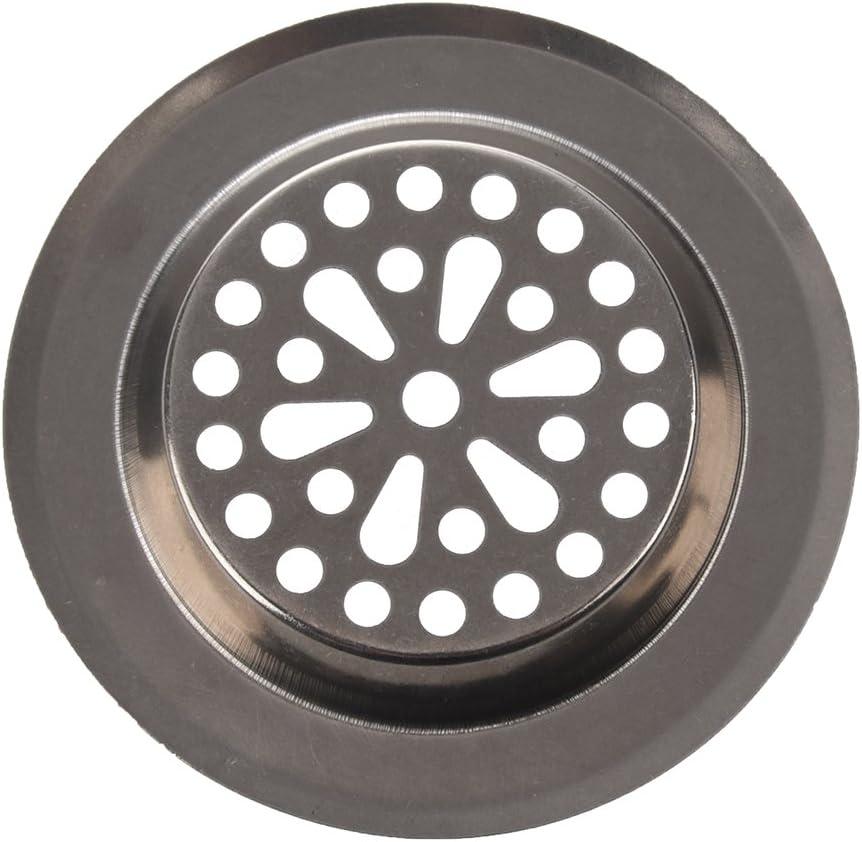 Senmubery 77mm x 55mm x 45mm Colador de Fregadero para Cocina Acero Inoxidable Plateado