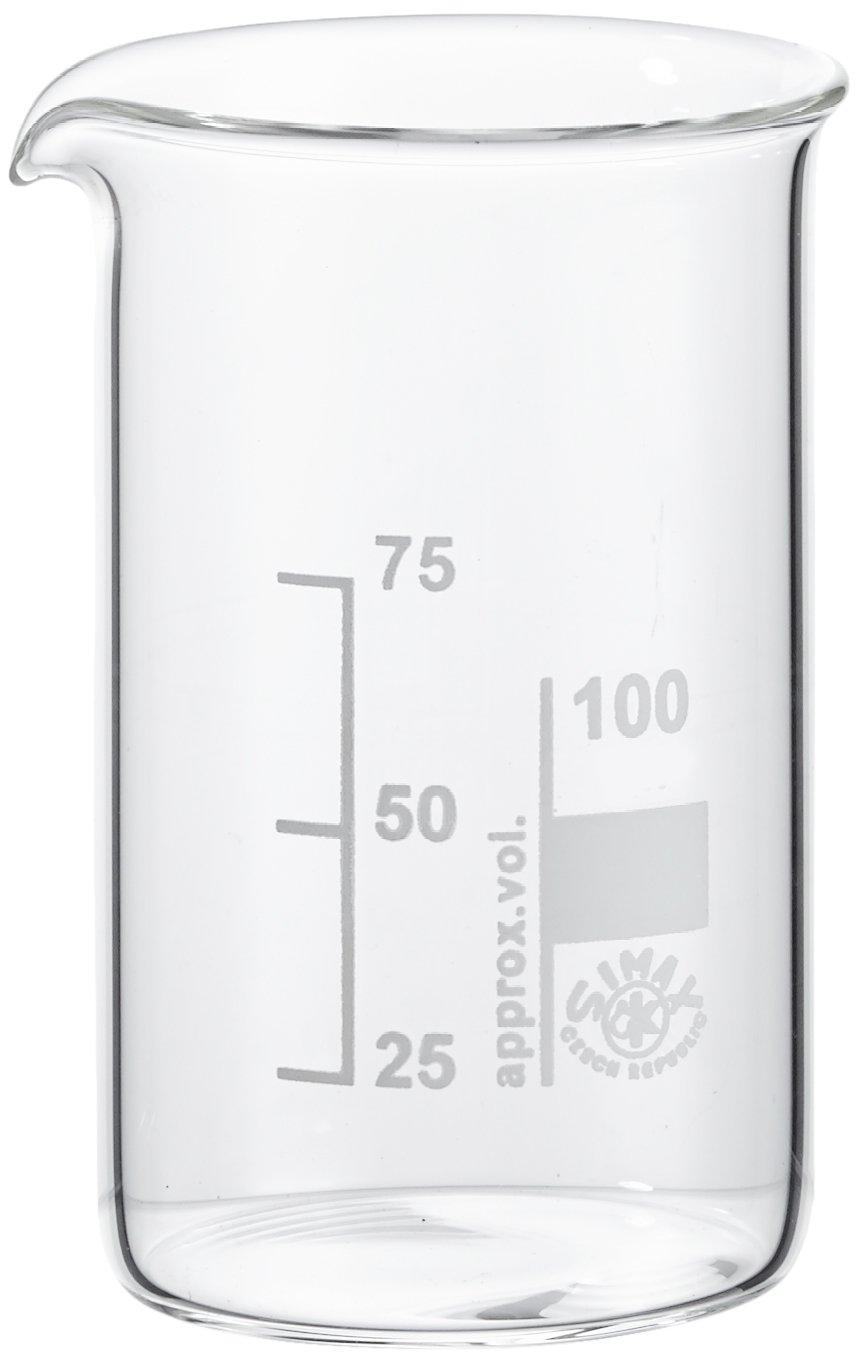 Gobelet en verre, 100 ml, Lot de 10, Neolab E-1047 100ml