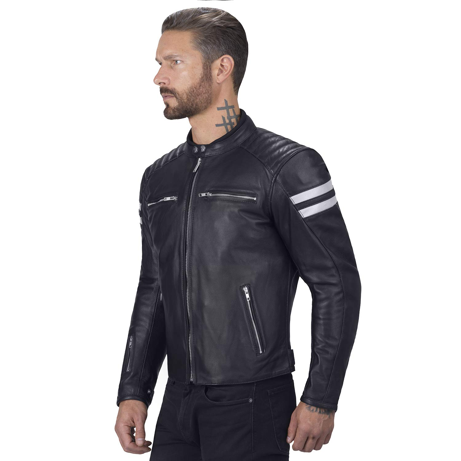 Viking Cycle Bloodaxe Leather Motorcycle Jacket for Men (X-Small) by Viking Cycle (Image #2)